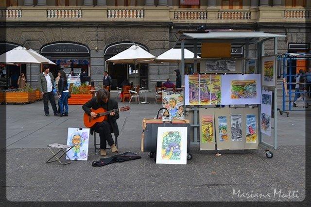 Volví a la Piazza Navona por un instante...