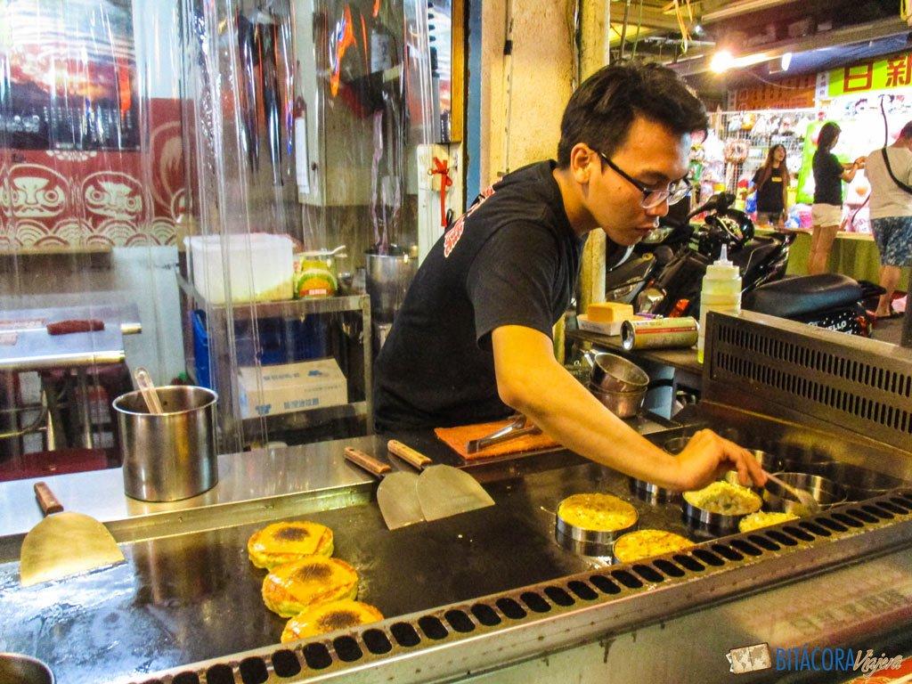 viajar a taiwán - comida taiwanesa