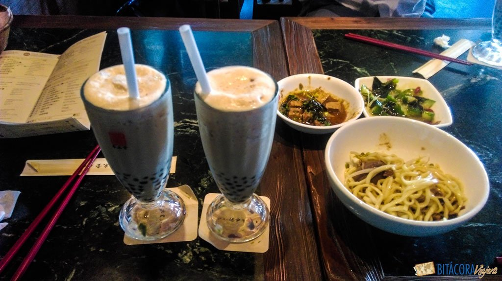 viajar a taiwán - gastronomía
