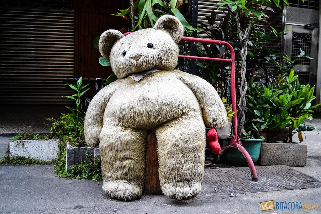 viajar a taiwán - osito de peluche de taiwan