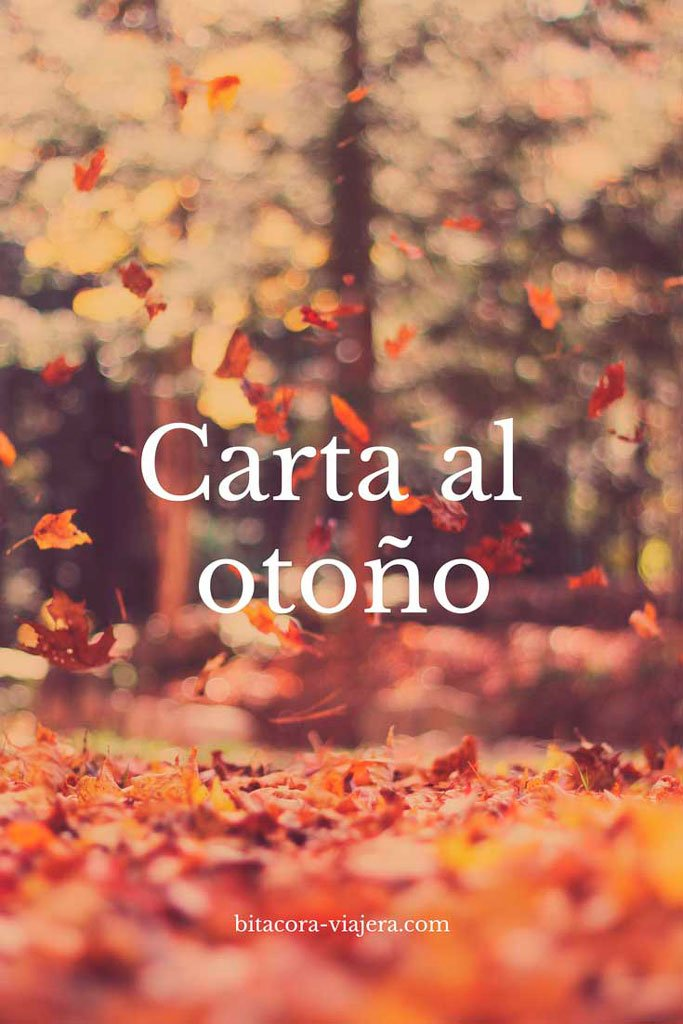 carta al otoño