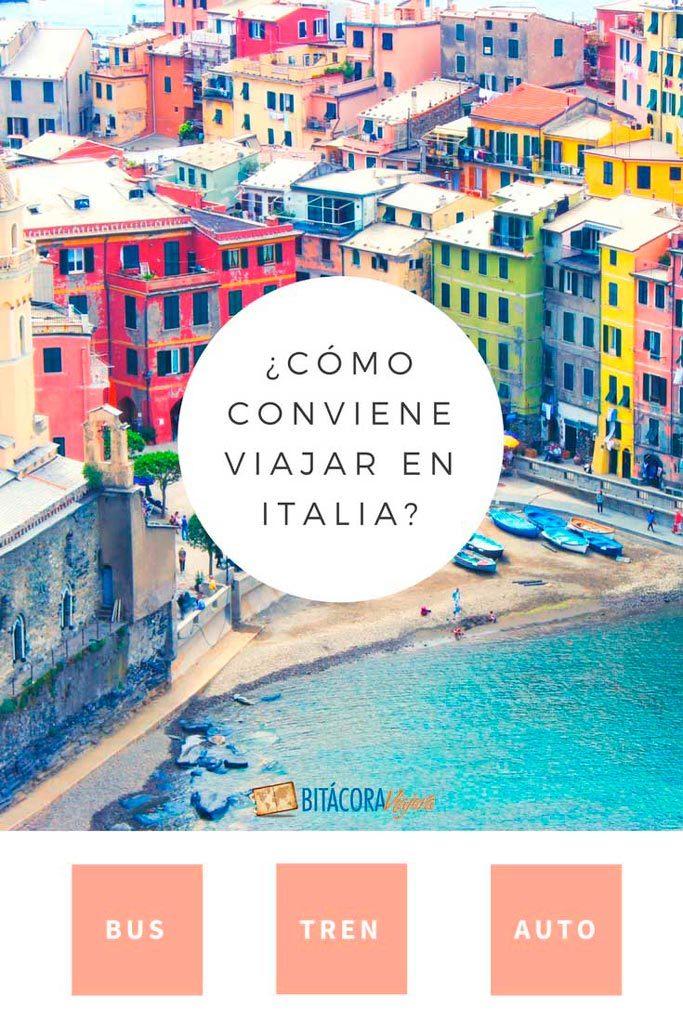 ¿Cómo conviene viajar por Italia? En este post te cuento todo sobre viajar en bus, tren o auto en Italia. Qué te conviene y por qué. #bitacoraviajera #viajarporitalia #viajaraitalia #viajaraeuropa #italia #tipsdeviaje #tipsviajeros #guiasdeviaje