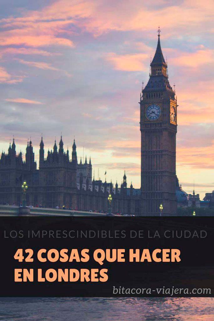 42 cosas que hacer en Londres: una guía repleta de ideas para disfrutar la capital inglesa #bitacoraviajera #viajaraeuropa #viajaralondres #londres #quehacernelondres #guiasdeviaje #tipsviajeros