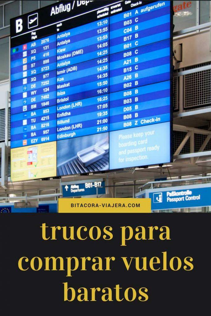 Cómo comprar vuelos baratos: te cuento todos los trucos que sé para conseguir pasajes al mejor precio. #bitacoraviajera #tipsdeviaje #travelhacks #tipsviajeros #viajarbarato #vuelosbaratos