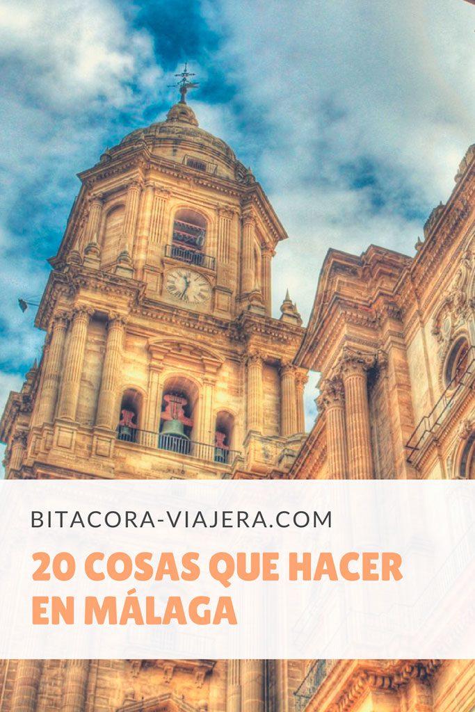 20 cosas que hacer en Málaga. Una guía con ideas para que puedas sacarle el máximo provecho a la ciudad. #bitacoraviajera #guiasdeviaje #quehacer #quever #viajaraeuropa #malaga #costadelsol