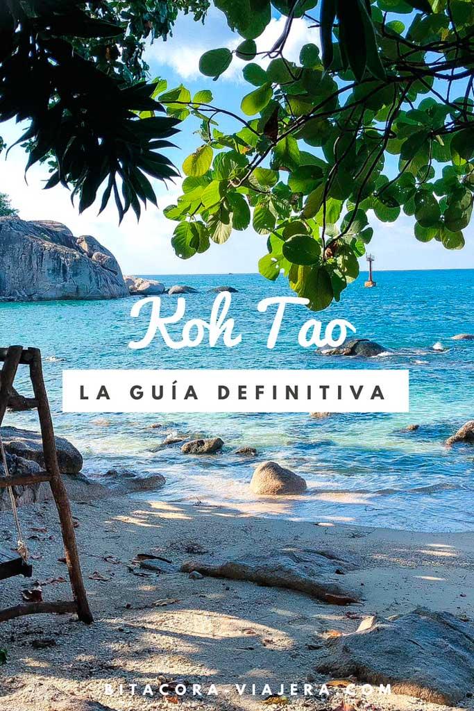 Guía definitiva para viajar a Koh Tao. Todo lo que necesitás saber para disfrutar de la isla tailandesa: dónde comer, dónde dormir, qué hacer, cómo llegar y mucho más. #bitacoraviajera #viajaratailandia #tailandia #kohtao #guiasdeviaje