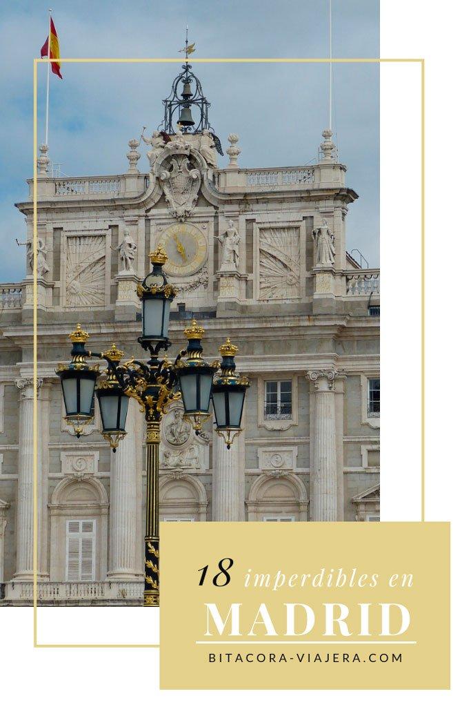 18 cosas imperdibles que hacer en Madrid. Una lista con ideas para que a tu viaje a la capital de España no le falte nada.