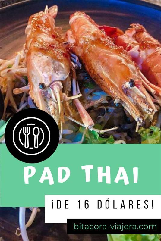 comimos un pad thai de 16 dólares