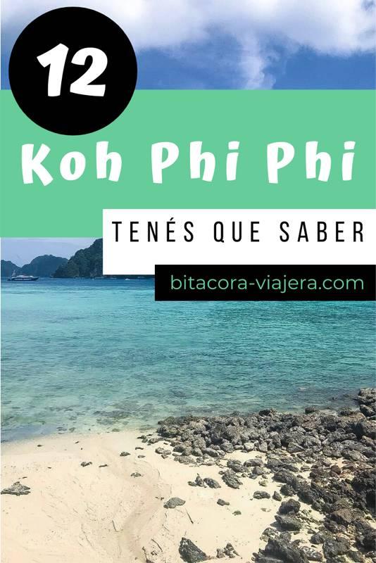 lo que tenes que saber antes de ir a koh phi phi