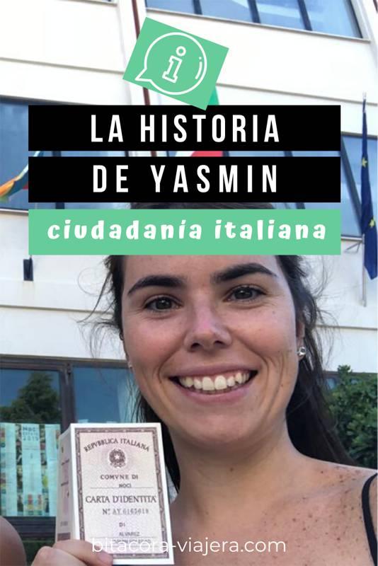 Hoy te cuento la historia de Yasmín, que logró tramitar su ciudadanía italiana a pesar de no tener ninguna información para empezar la búsqueda de documentos. Una historia de inspiración que seguro te va a dar un empujoncito cuando lo ves todo negro. #ciudadaniaitaliana #ciudadaniaitalianaenitalia #emigrar