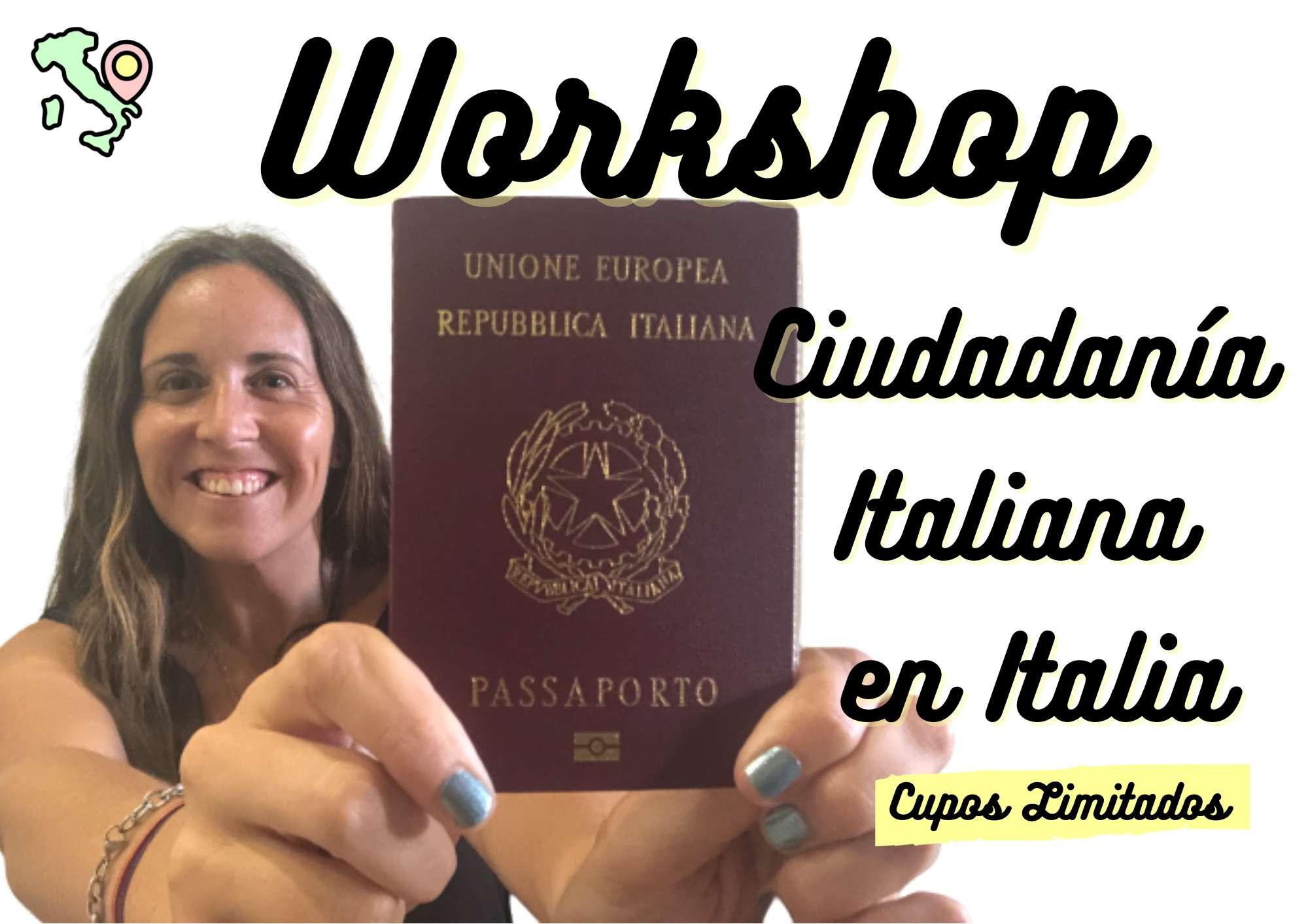 workshop ciudadanía italiana en italia
